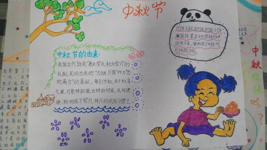 四年级中秋节手抄报图片 月儿圆圆话中秋图片