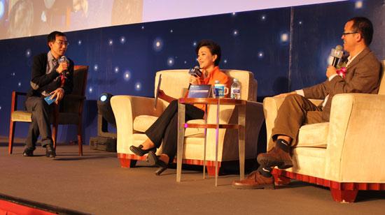 杨澜、俞敏洪在第五届新东方家教高峰论坛现场对话家庭教育