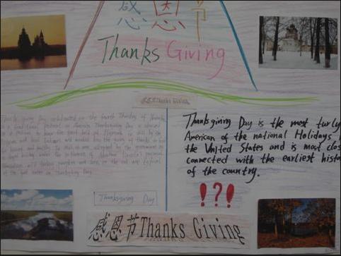2012年感恩节英语手抄报(图集)