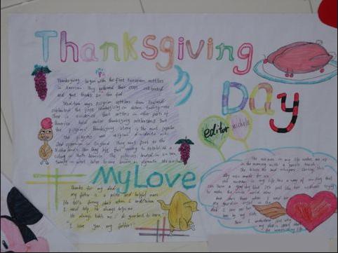 2012年感恩节英语手抄报 图集