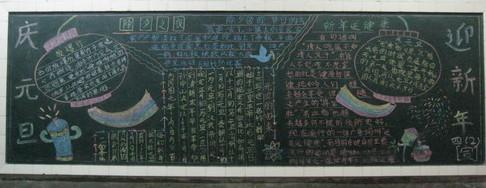 庆元旦黑板报设计图 欢庆元旦 元旦的由来