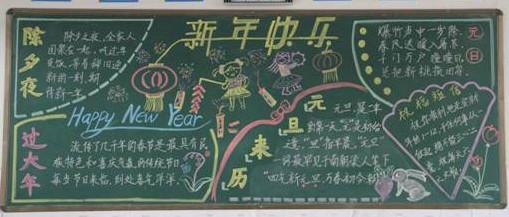 2013年元旦黑板报图片:元旦节的来历