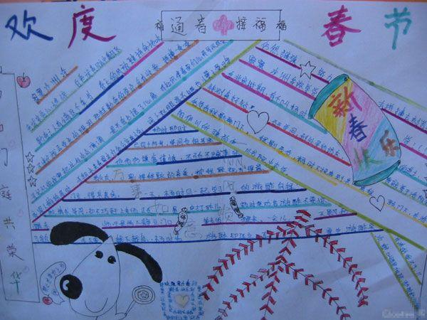 2013春节手抄报 春节进香习俗