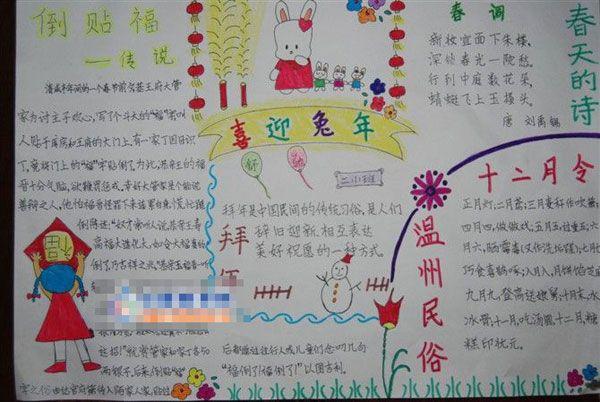 2013春节手抄报 团拜历史发展
