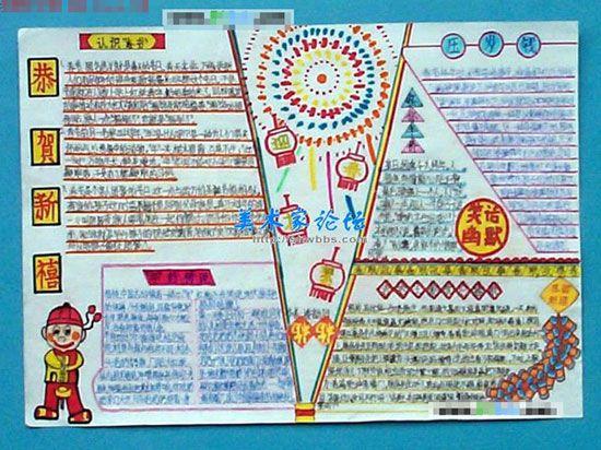 2013春节手抄报 关于年画的故事