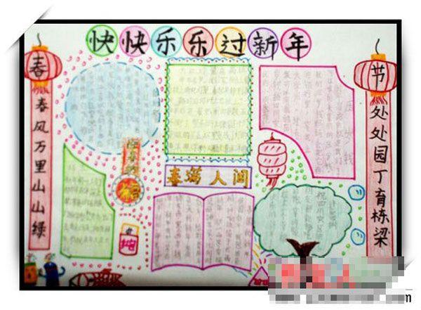 2013春节手抄报 春节挂年画