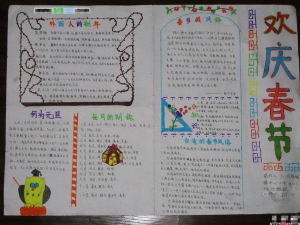 2013春节手抄报 春联传说与发展