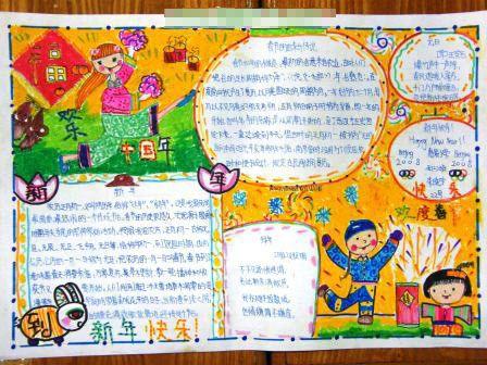 关于新年的手抄报 欢乐中国年