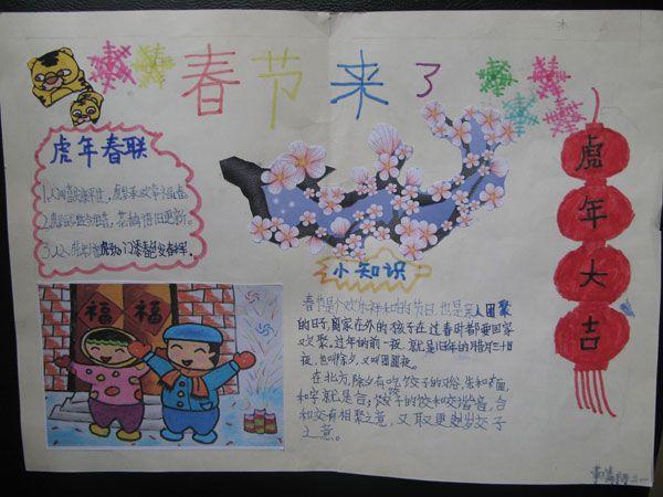 小学生新年手抄报图片 新春大吉