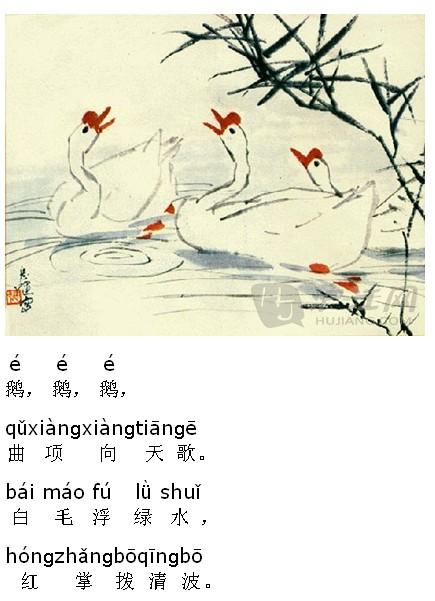 唐诗三百首朗读:咏鹅