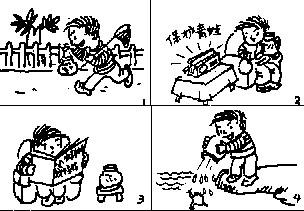 小学一年级看图写话练习题(三)