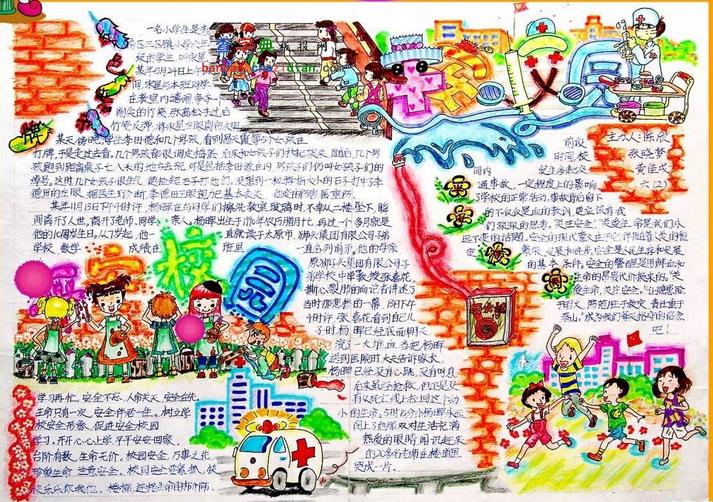 关于小学生暑假的手抄报面设计图