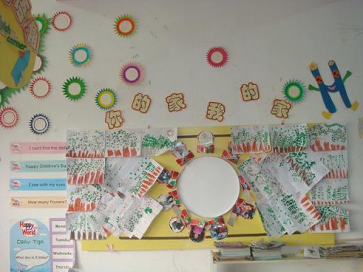 幼儿园新学期新气象:主题墙饰