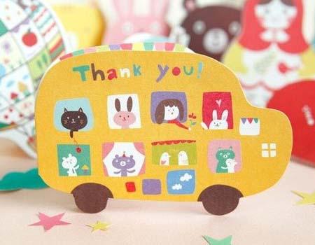 这款感恩节贺卡采用小动物形状设计,憨厚可爱,很