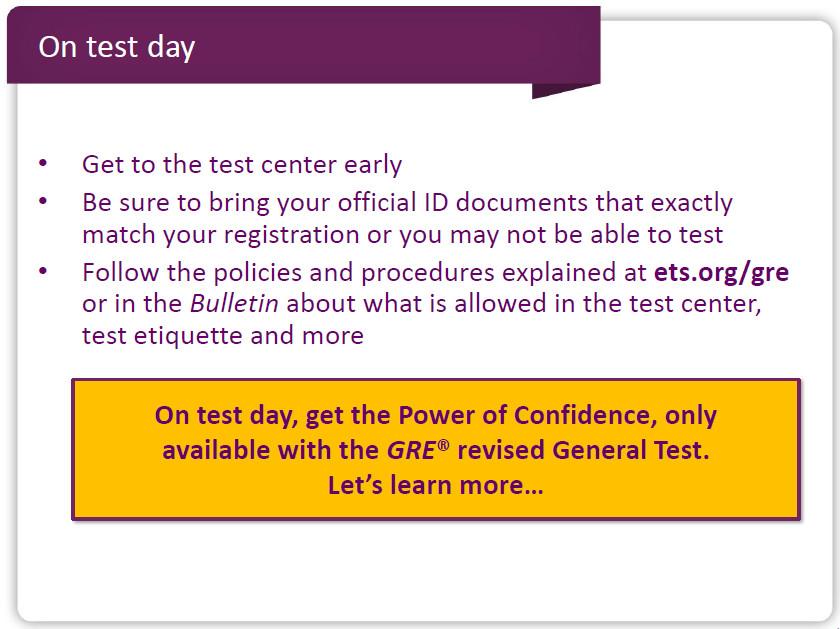GRE考试当天应该注意些什么?