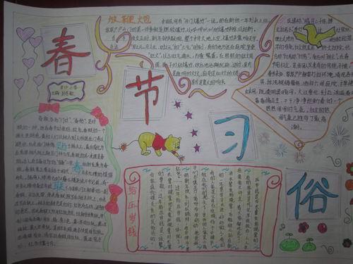 2014春节手抄报图片大全