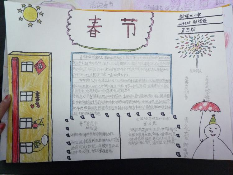 2014春节手抄报图片 春节祝福-2014小学生春节手抄报图片