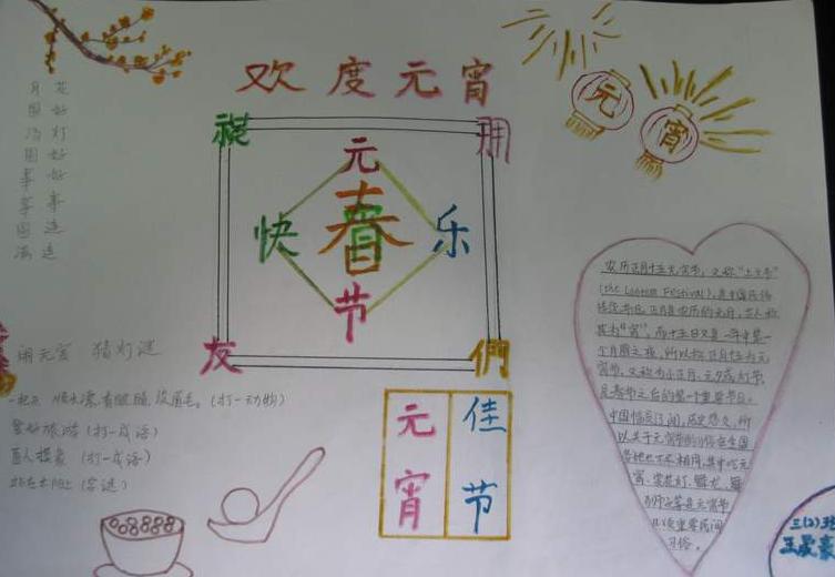 2014元宵节手抄报图片 春节手
