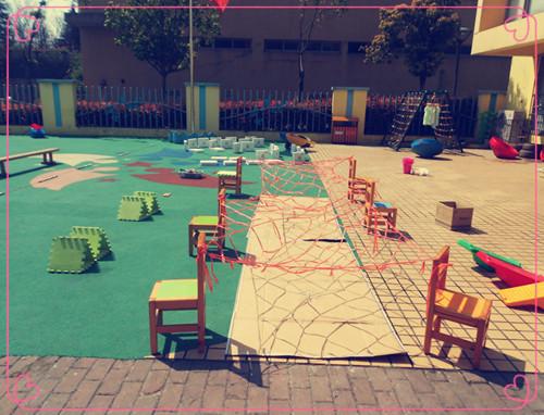 新东方满天星幼儿园举行自制晨锻器材分享活动