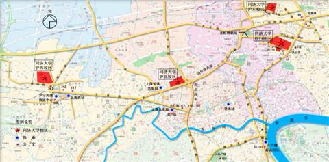 从上海火车站到四平路校区的交通路线