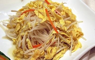 2014高考食谱:豆芽蛋丝(清热解毒、健脾开胃)