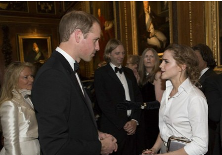 艾玛•沃特森出席威廉王子慈善晚宴