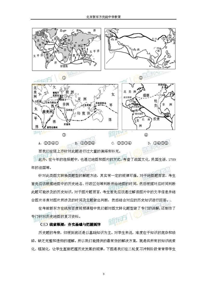 2014北京高考历史试题及答案解析(新东方版)