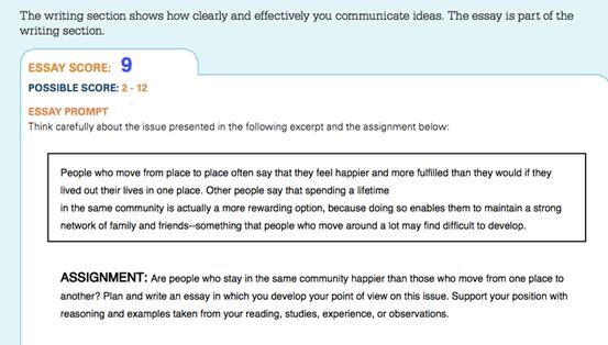 2014年6月SAT 9分考生作文点评