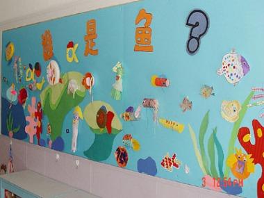 幼儿园环境布置图片 益智区