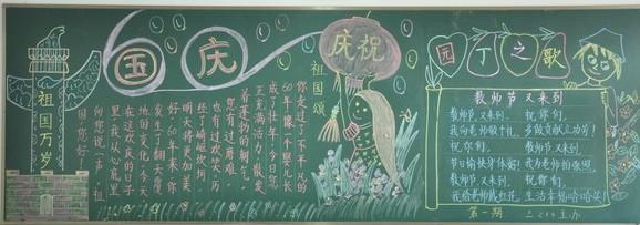 国庆节黑板报设计集锦
