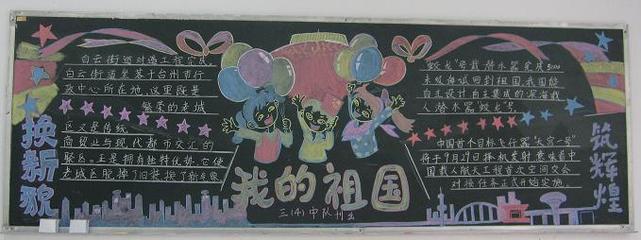国庆节黑板报集锦