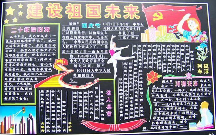 2014年度国庆节黑板报内容设计