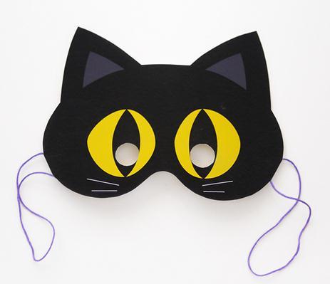 万圣节面具之黑猫面具制作图纸