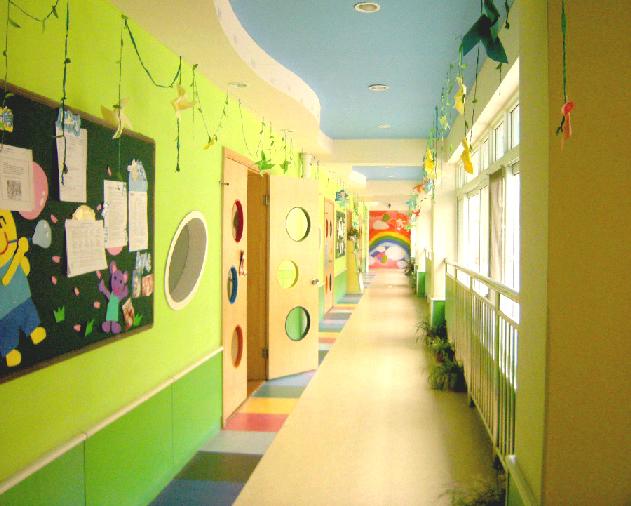幼儿园教室墙面设计图片 英语