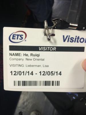 新东方贺锐奇老师ETS总部之行-访问门禁卡