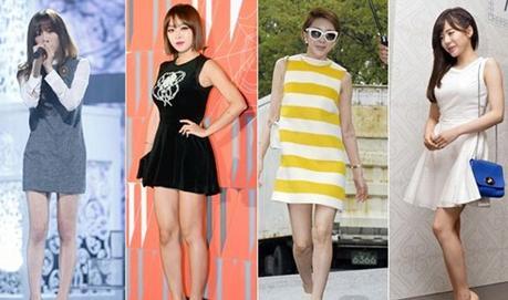 韩国150cm短身女明星的 提高 搭配法