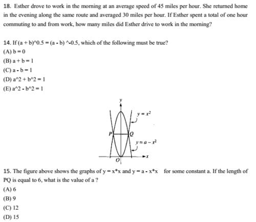 2015年10月3日SAT数学机经
