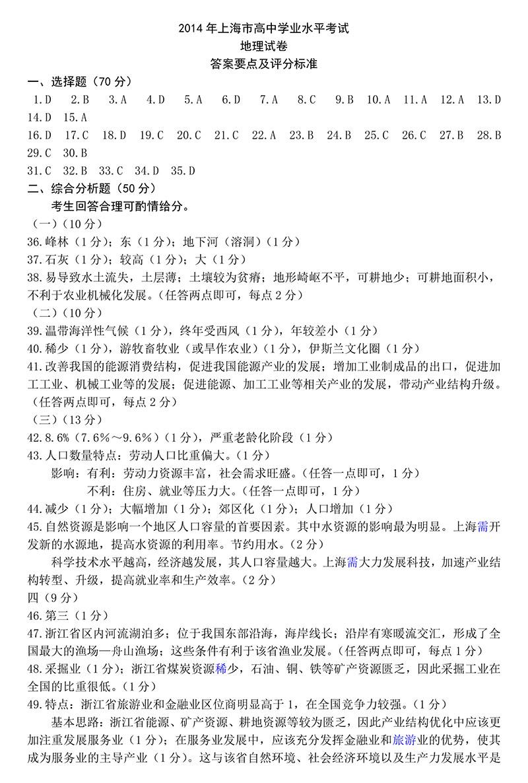 2014年上海市普通高中试卷水平考试高中校花学业首地理尔表演艺术图片