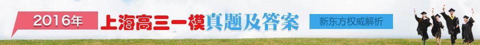 2016上海高三一模试题及答案解析