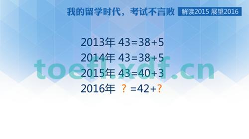 新东方张仪:托福考试2015年终清点及2016年托福预测