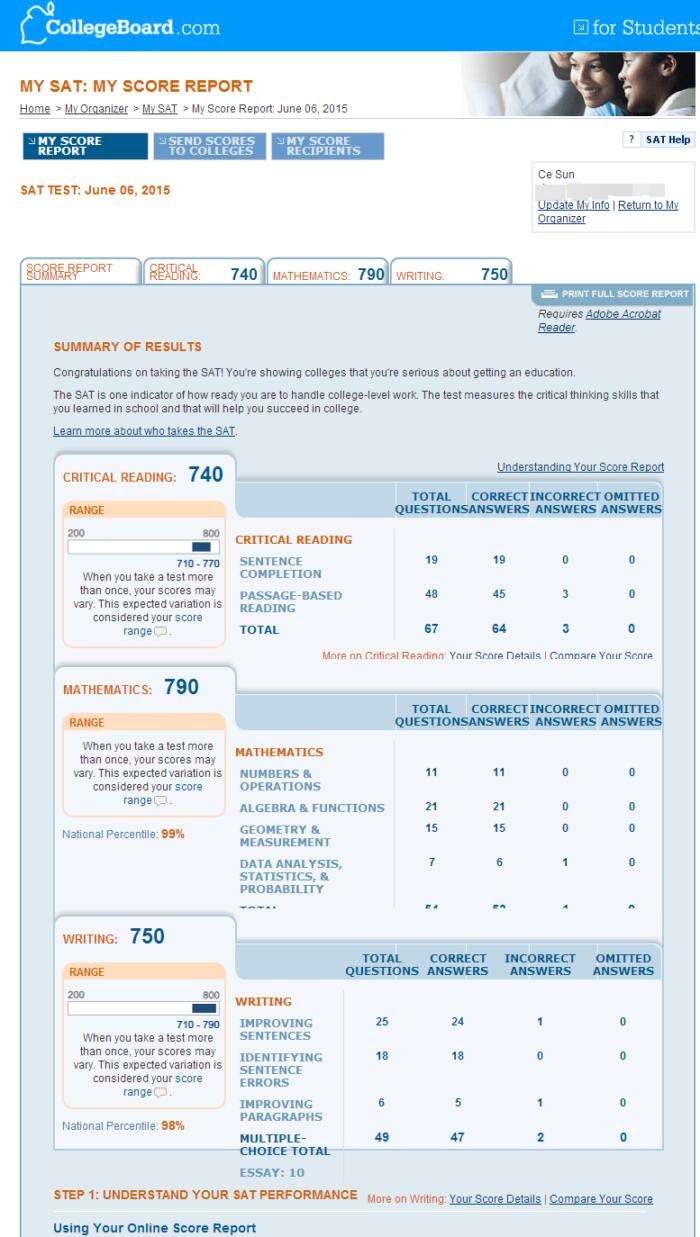 SAT高分经验:三周备考提升110分