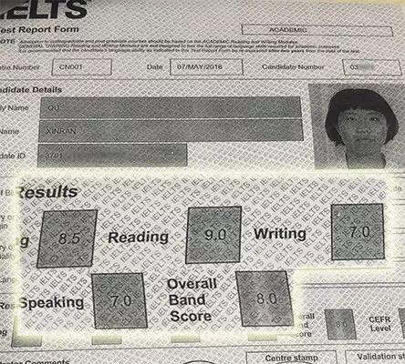 曲心然同学成绩单