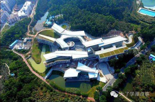师大-香港浸会大学联合国际学院俯视图的那一秒,分分钟有一种精致