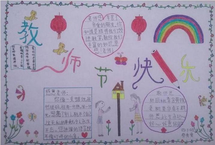 2016最新教师节手抄报_教师节黑板报大全(40篇)