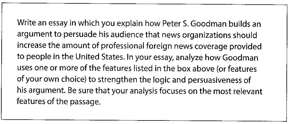 新SAT写作:评分标准解析