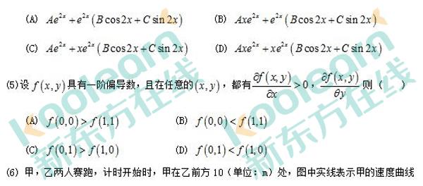 2017考研数学二单选题真题(新东方图片版)