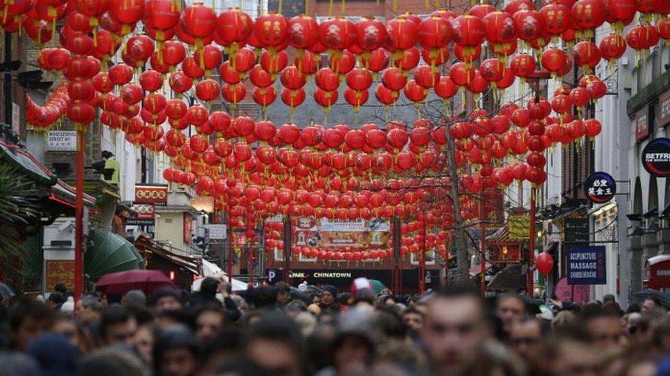 伦敦喜气洋洋欢庆春节