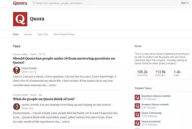 英文素材积累网站:Quora