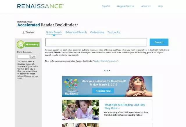 英文素材积累网站:AR book finder