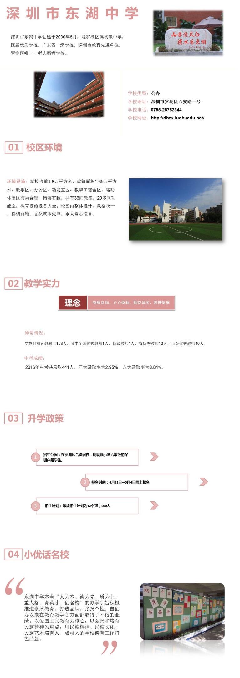 深圳市罗湖区东湖中学介绍